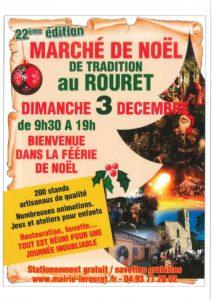 Affiche marché Noël 2018 du Rouret