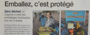 Article de 20 minutes sur l'abeille qui emballe
