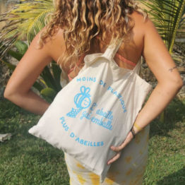 Tote bag - L'abeille qui emballe