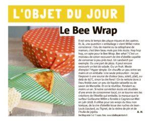L'objet du jour : Le Bee wrap (Nice Matin 1er juillet 2020)