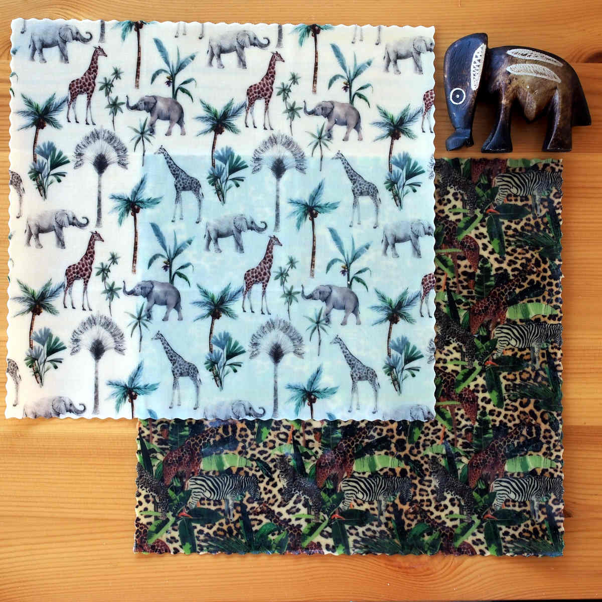 """Pack de bee wraps """"duo écolo"""", collection """"Animaux sauvages"""""""