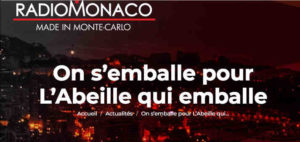 On s'emballe pour L'abeille qui emballe sur Radio Monaco