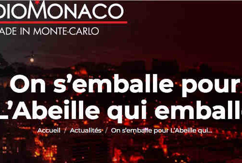 On s'emballe pour L'abeille qui emballe sur Radio Monaco