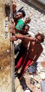 L'épave du RAL BOL et les plongeurs