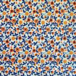 """Collection """"Fleurs des champs"""" de beeswraps de L'abeille qui emballe - petites fleurs orange"""