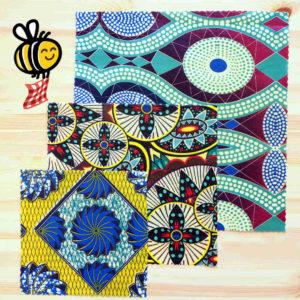 """Pack découverte de bee wraps de L'abeille qui emballe, collection """"Wax"""""""
