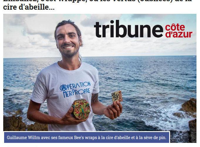 Emballez, c'est wrappé, ou les vertus (oubliées) de la cire d'abeille... article de Tribuca (Tribune Côte d'Azur)