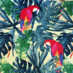 "Collection ""Vie sauvage"" de L'abeille qui emballe - perroquets et phylodendrons"