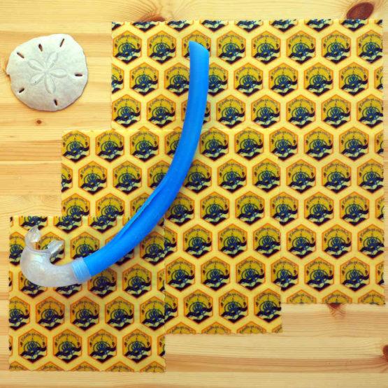 Pack découverte de bee wraps de L'abeille qui emballe, et Opération Mer Propre