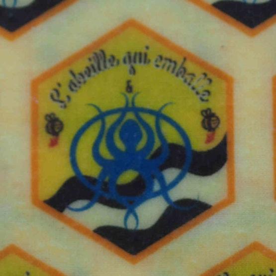 Motif du bees wraps de L'abeille qui emballe et Opération Mer Propre